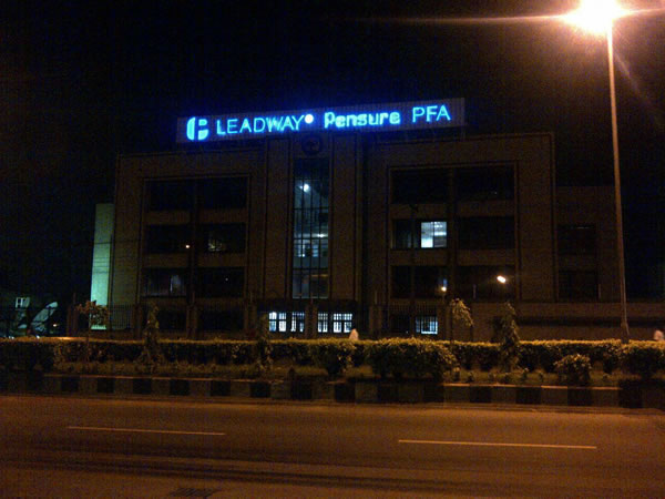 Signage: Leadway Pensure