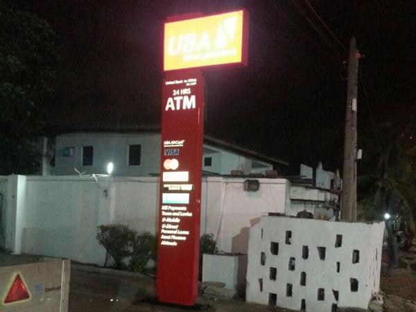 Signage: UBA -Ajose Adeogun