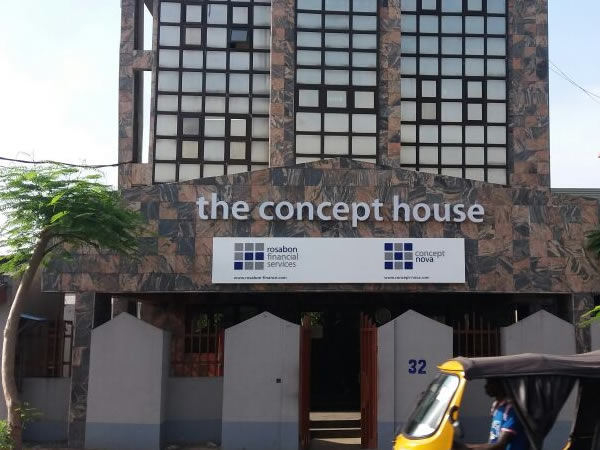 wall sign for concept house by Goldfire Nigeria Limited| Signage company in Lagos, Nigeria