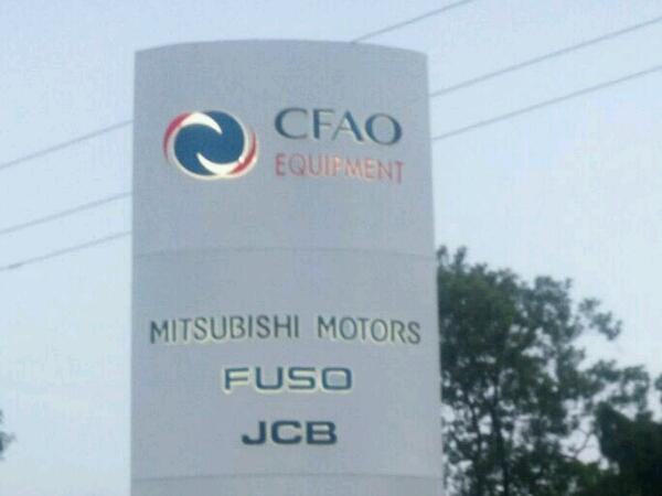 Signage: CFAO Motors, Mitsubishi, JCB & Fuso