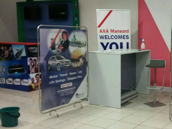 Axa mansard display stand – Goldfire