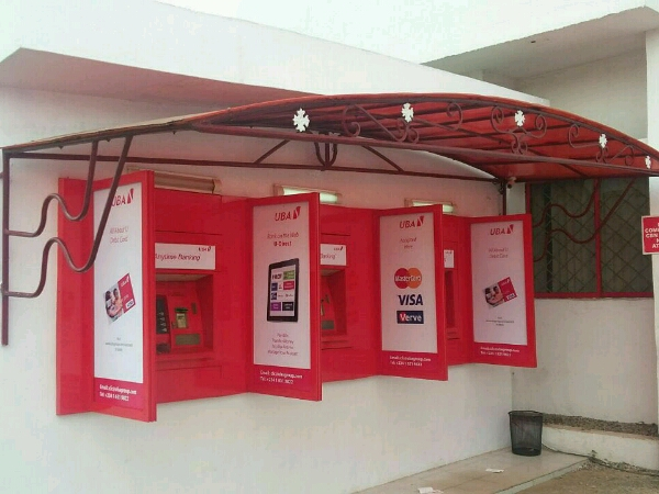 Branding UBA ATM Canopy And Side Guards & Branding: UBA ATM canopy and side guards - Goldfire Nigeria Limited