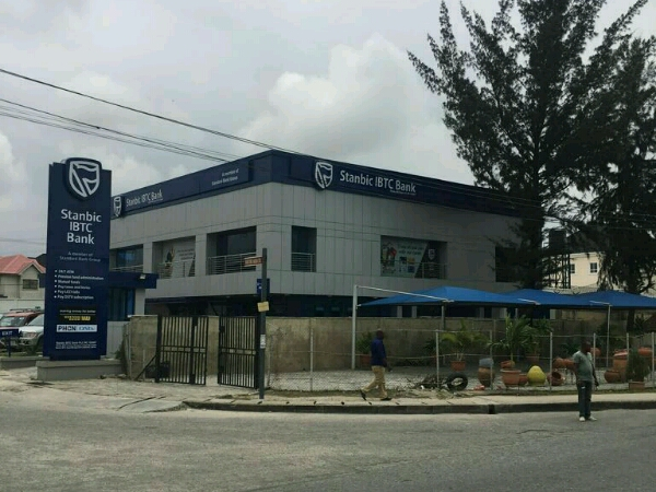 Pylon signage for Stanbic IBTC Admiiralty signage - Goldfire Nigeria Limited