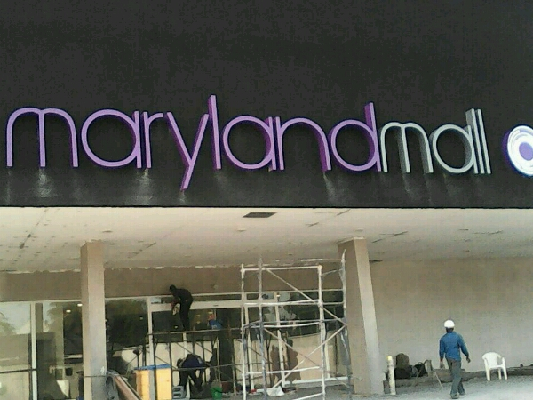 wall sign for Maryland Mall by Goldfire Nigeria Limited| Signage company in Lagos, Nigeria