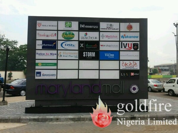 Cantilever Sign for Maryland Mall - Goldifre Nigeria Limited | Signage Company in Lagos Nigeria